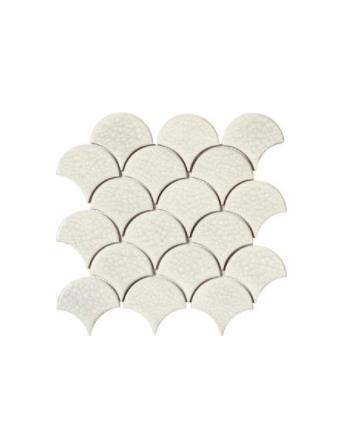 Płytki ceramiczne białe łuski